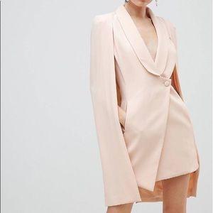 New ASOS pink cape dress